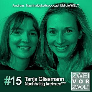 Cover der Folge 15 von ZWEIvorZWÖLF mit Tanja Glissmann