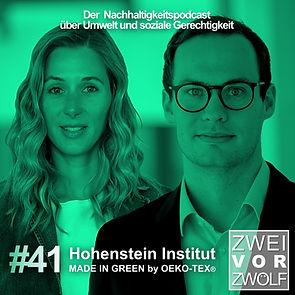 Cover der Folge 41 mit Hohenstein Institut über Made In Green by OEKO-TEX