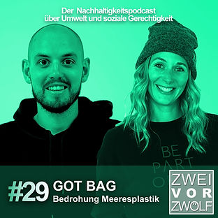 Cover der Folger 29 Podcast ZweivorZwölf mit Got Bag