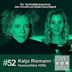 Cover der Episode 52 von ZweivorZWÖLF mit Katja Riemann