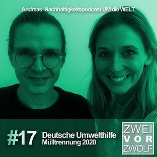 """Cover der Folge 17 von ZWEIvorZWÖL mit der Deutschen Umwelthilfe"""""""