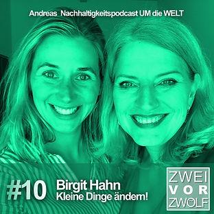 Cover ZweivorZwölf Folge 10 mit Birgit Hahn