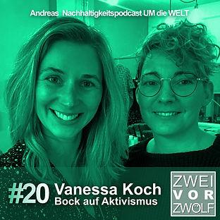 Cover der Folge 20 von ZWEIvorZWÖLF Podcast mit Vanessa Koch