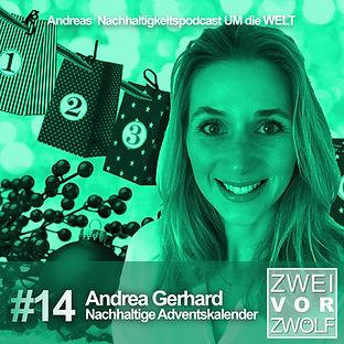 Cover der Folge 14 von ZWEIvorZWÖLF mit Andrea Gerhard