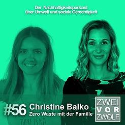 Cover der Episode 56 von ZWEIvorZWÖLF KurzvorZwölf mit Christine Balko
