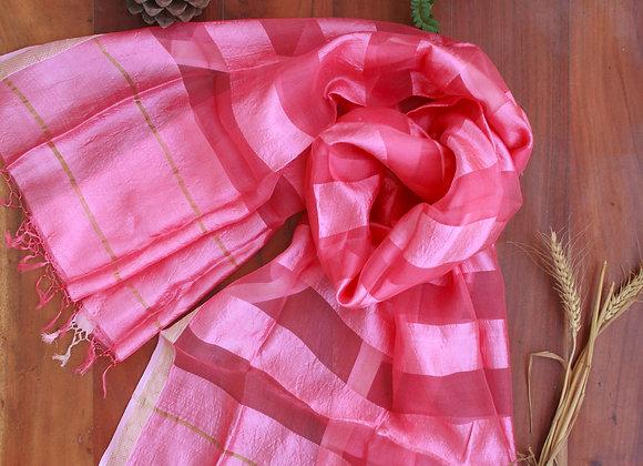 Pretty Pink Silk Stole