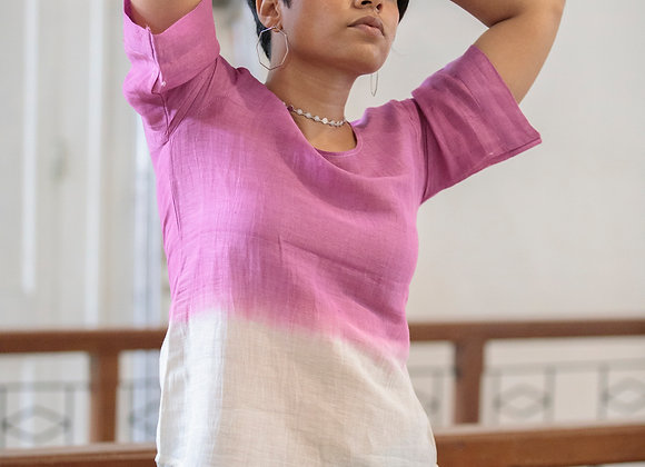 Orchid: Magenta Boxy Sleeve Top