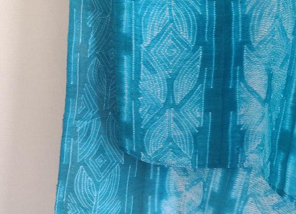 Beryl: Emerald Shibori Linen Scarf