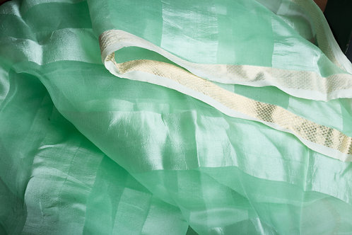 Jheeli: Sea Green Pure Silk Handloom Stole