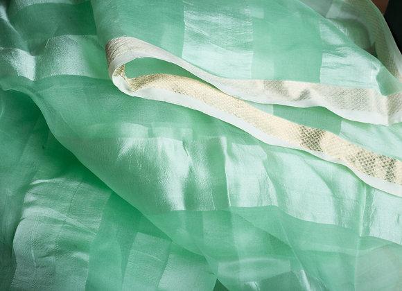Jheeli: Sea Green Pure Silk Handloom Stole