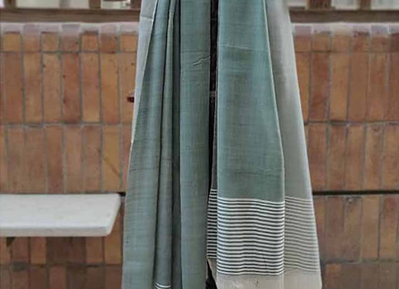 Moss Green Silk Mashru Stole