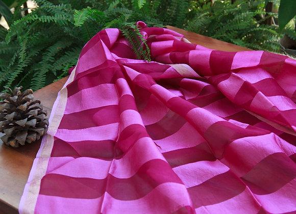 Magenta Haze Silk Stole