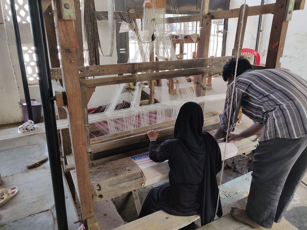 Handloom weaving Himroo Loomkatha