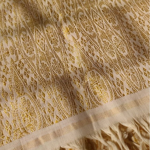 Golden Chatai Himroo Shawl