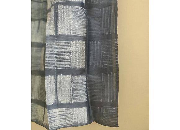 Grey Kyoto Shibori Linen Stole
