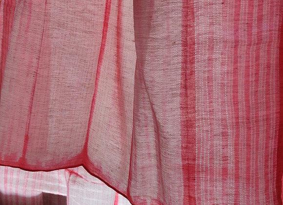 Coral Lino Shibori Linen Stole