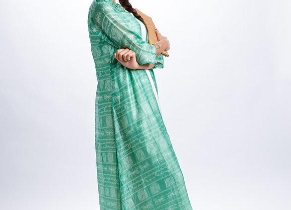 Masai: Sage Green Shibori Jacket