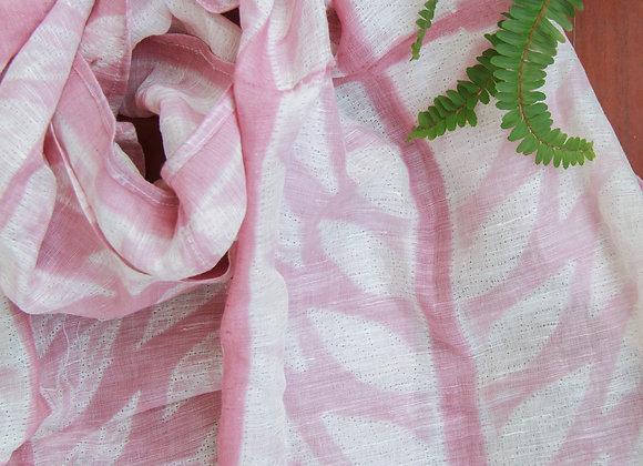 Dusky Rose Pink Shibori Stole