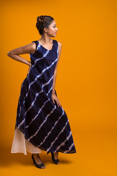 Lehariya Indigo Dress