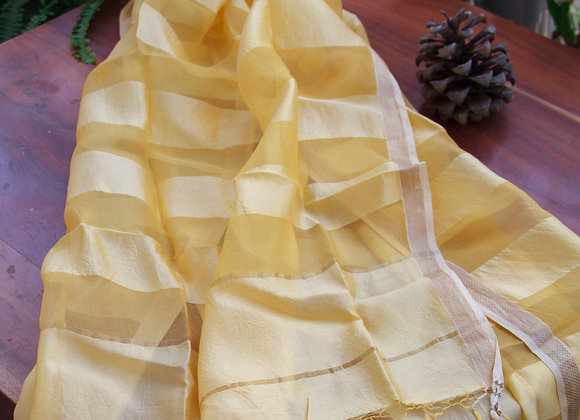 Sunshine Yellow Silk Stole
