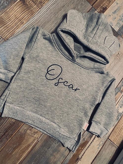 Bear ear personalised hoodies