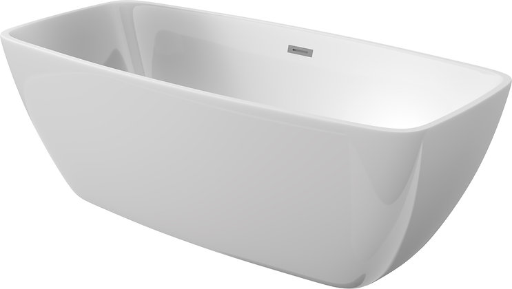 FREESTANDING SQUARE BATHTUB - ANEMON