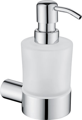 WALL-MOUNTED SOAP DISPENCER- ROUND -CHROME