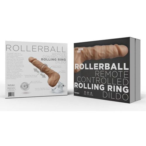 Rollerball Dildo With Rolling Ball Function Suction Cup Base
