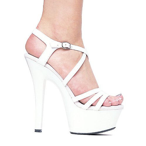 "Ellie Shoes Dreamer 6"" Stiletto w/2"" Platform WHITE"