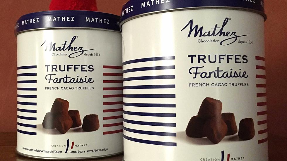 2 Boites Pompons de truffes en chocolat