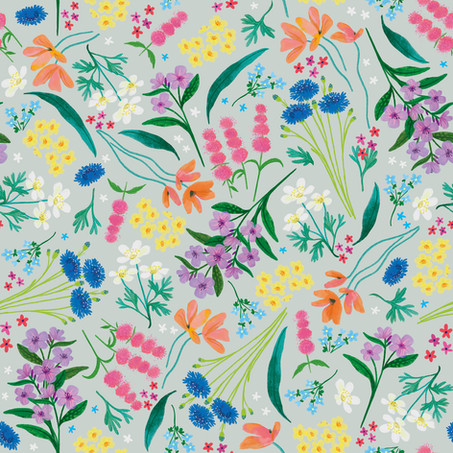 Repeat Floral Pattern