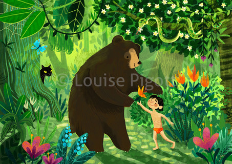 Jungle Book Illustration Louise Pigott