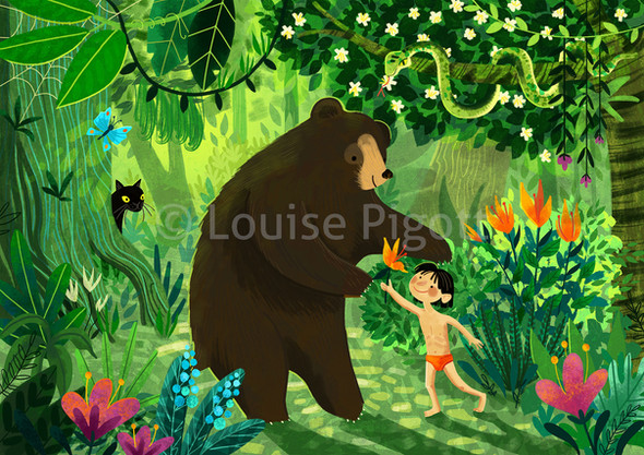 Jungle Book Illustration Louise Pigott