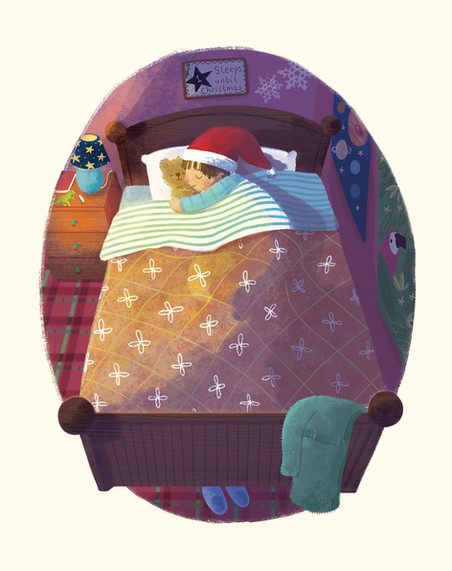 The Night Before Christmas - Child Illustration