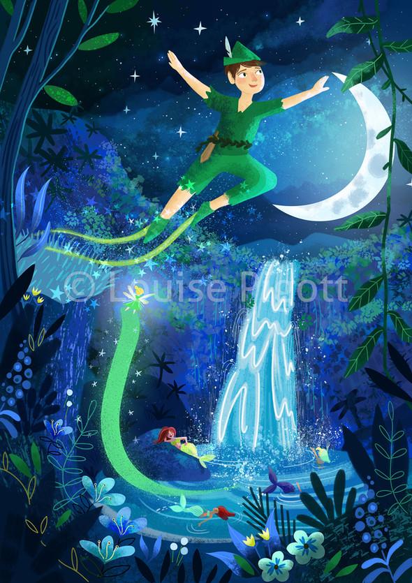 Peter Pan Illustration Louise Pigott
