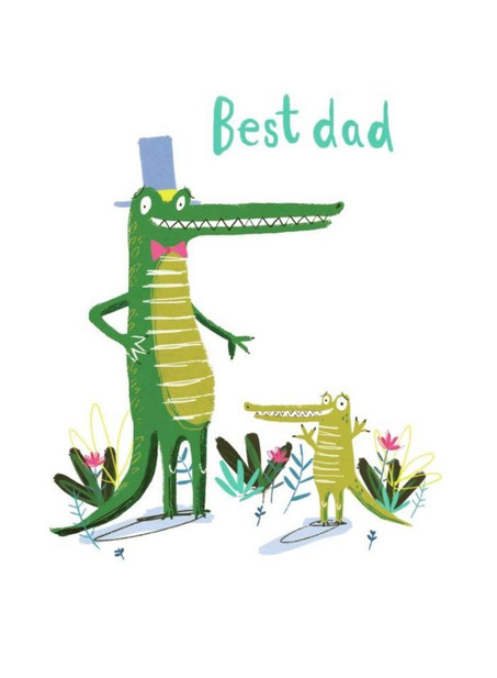Daddy and Baby Crocodile