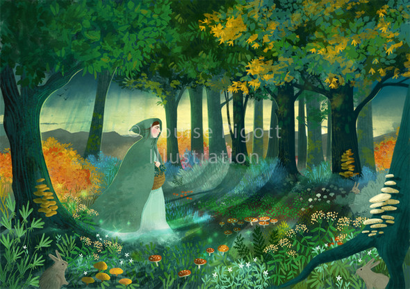 Celtic Woodland Painting