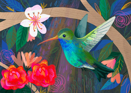 Hummingbird Digital Painting