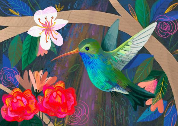 Hummingbird Digital Painting