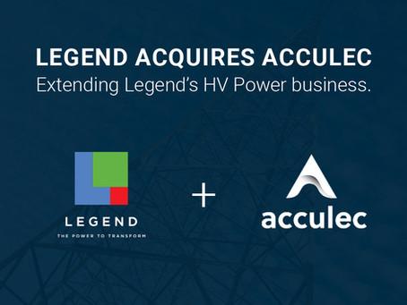 Legend to acquire Acculec