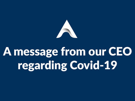 A message from our CEO regarding Covid-19