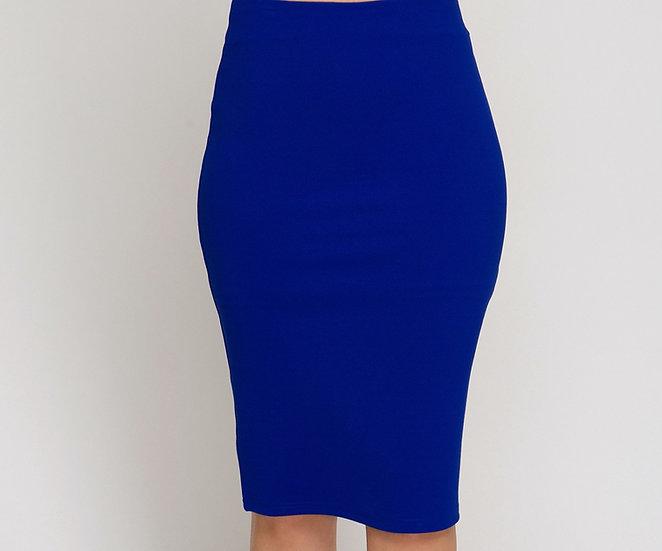 Heavy Knit Midi Skirt w/ Back Slit