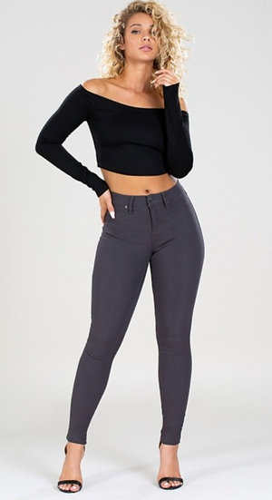 Skinny Stretch Mid-Rise  Jeggings (1 medium available)