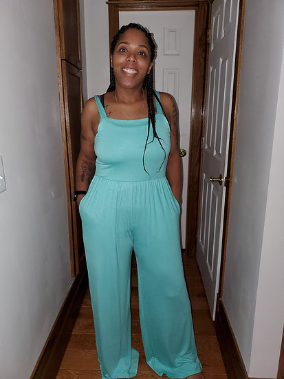 Tank Jumpsuit with Pockets