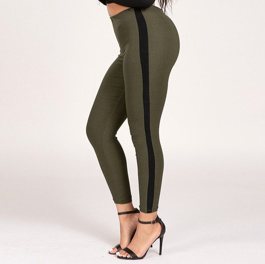 High-Rise Pull-On Skinny With Twill Side Seam (only small and medium available)