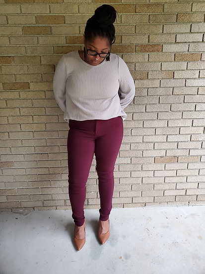 High Waisted colored pants