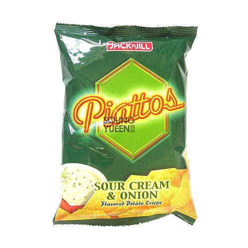 JACK N JILL PIATTOS SOUR CREAM & ONION FLAVOURED POTATO CRISPS 85G