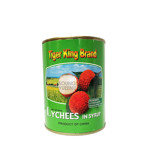 TIGER KING BRAND LYCHEE IN SYRUP 567G