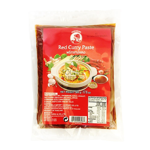 COCK RED CURRY PASTE 500G