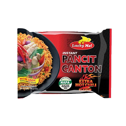 LUCKY ME INSTANT PANCIT CANTON EXTRA HOT CHILLI FLAVOR 6X60G